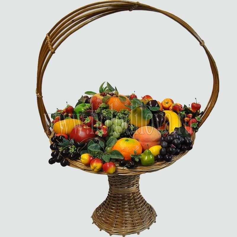 Корзина фрукты с цветами своими руками
