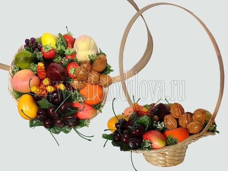 Как сделать корзинку с фруктов
